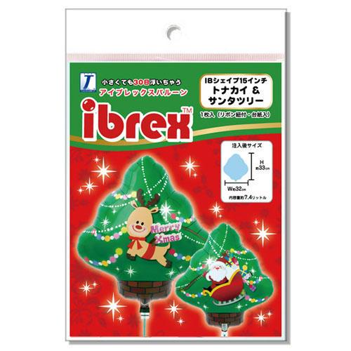"ibrex シェイプ14"" トナカイ&サンタツリー"