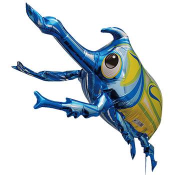 カブトムシバルーン3D(ブルー)