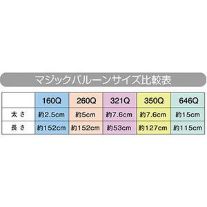 【マジックバルーンサイズ比較表】