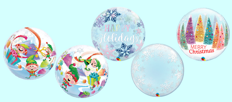 クリスマス柄 バブルバルーン