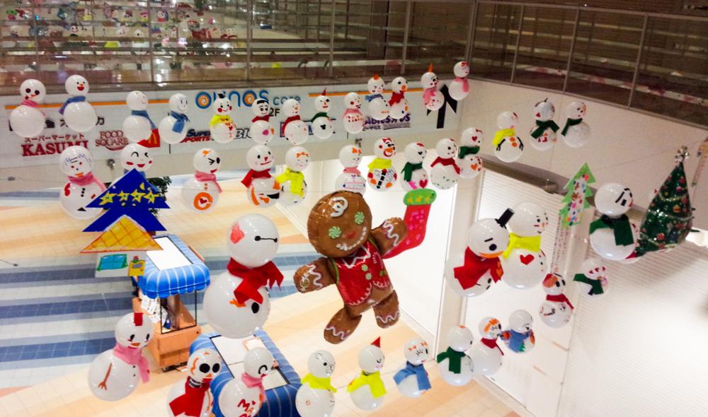 クリスマス装飾-吹き抜け02_大