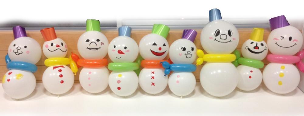 クリスマス装飾-雪だるま01_大