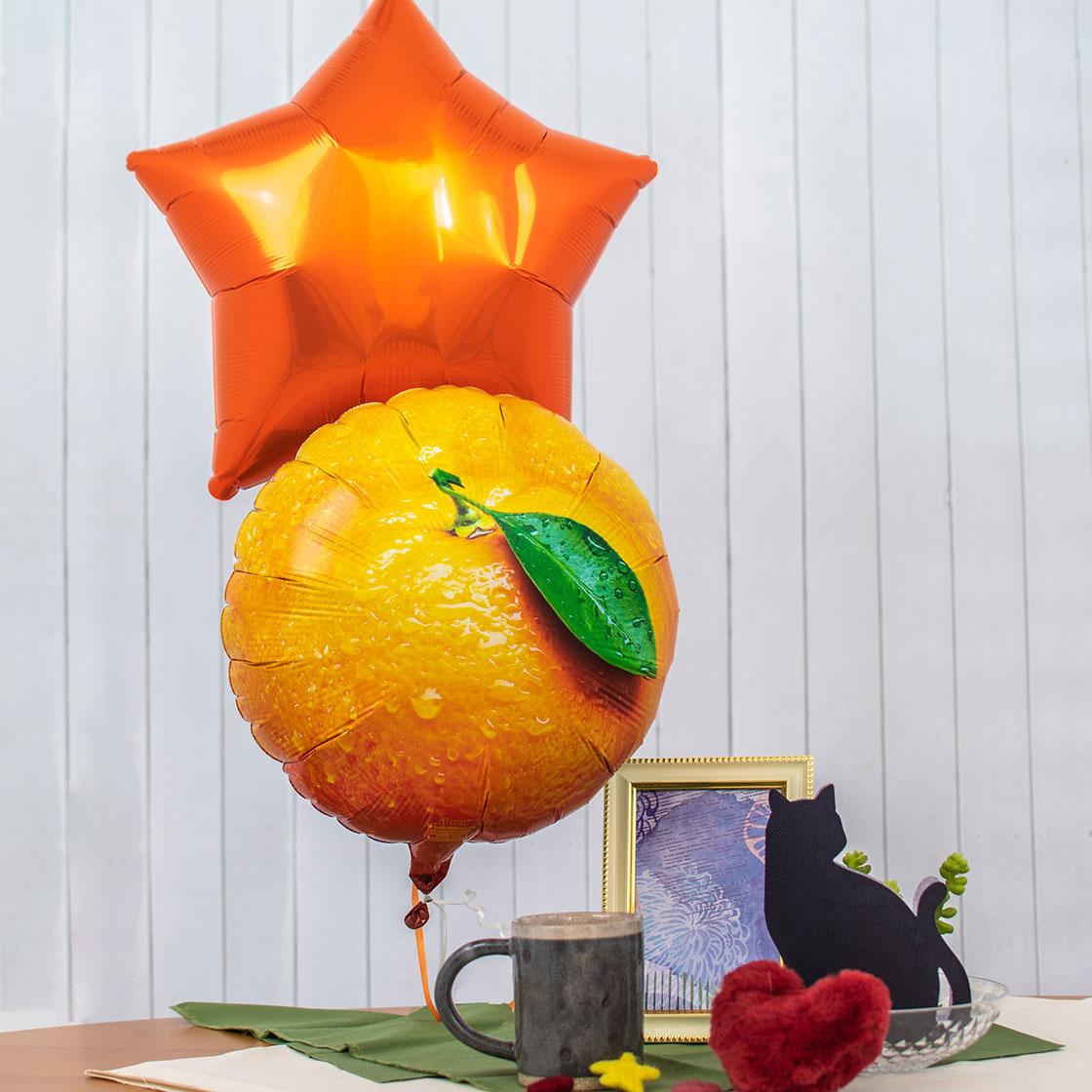秋カラーのバルーンデコレーションアレンジ
