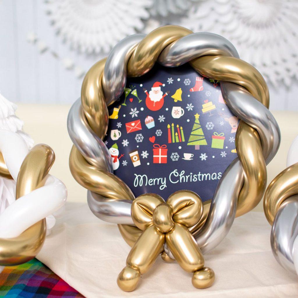 クリスマスモチーフの バルーンアート