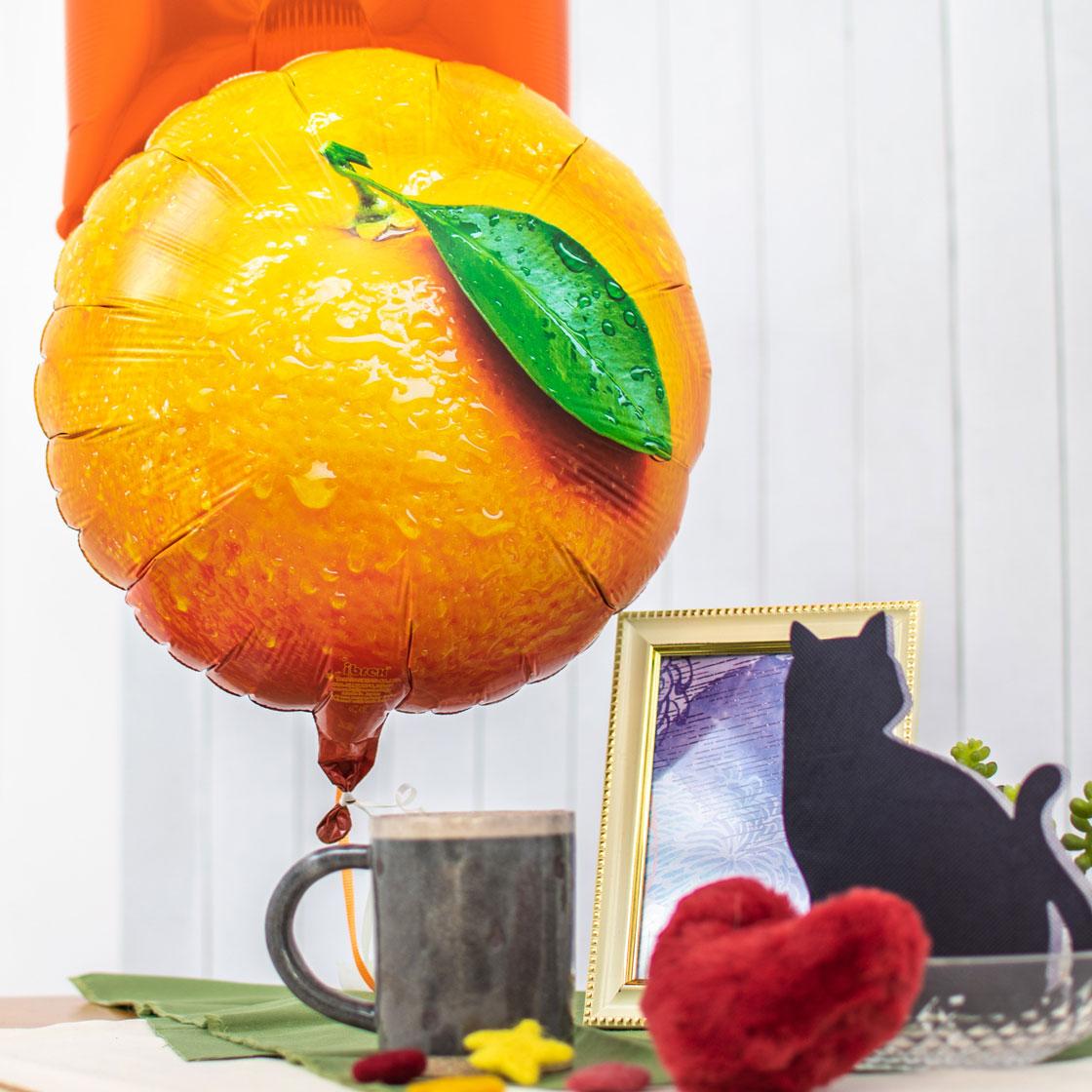 秋のフルーツをイメージしたバルーンアレンジ